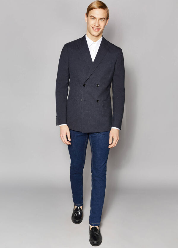 Elegant slim-fit double-breasted jacket | OVS
