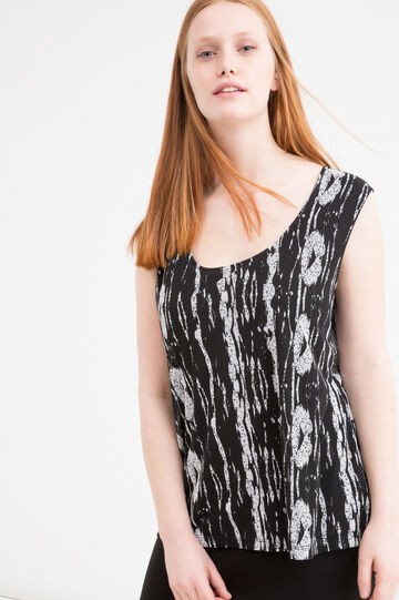 Curvy viscose sleeveless dress