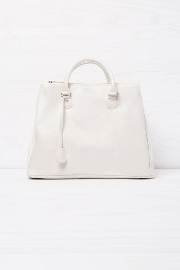 Solid colour handbag with shoulder strap