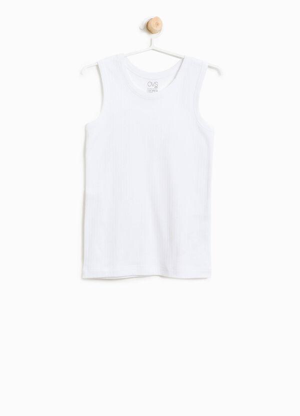 Organic cotton ribbed under vest | OVS