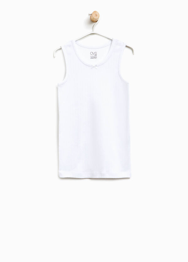 Cotton vest with bow | OVS