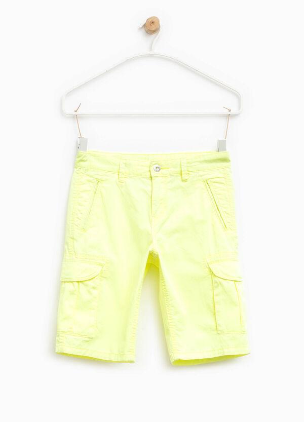 100% cotton cargo Bermuda shorts | OVS