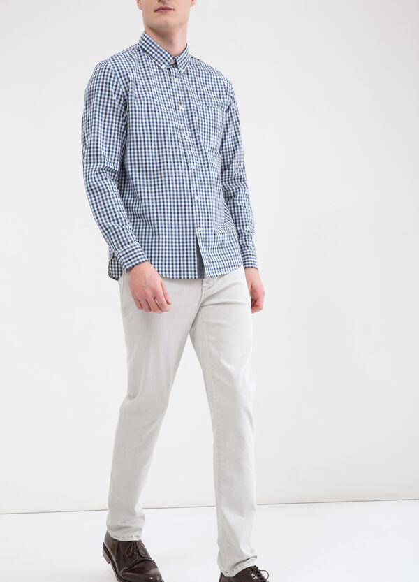 Camicia cotone quadri con tasca   OVS