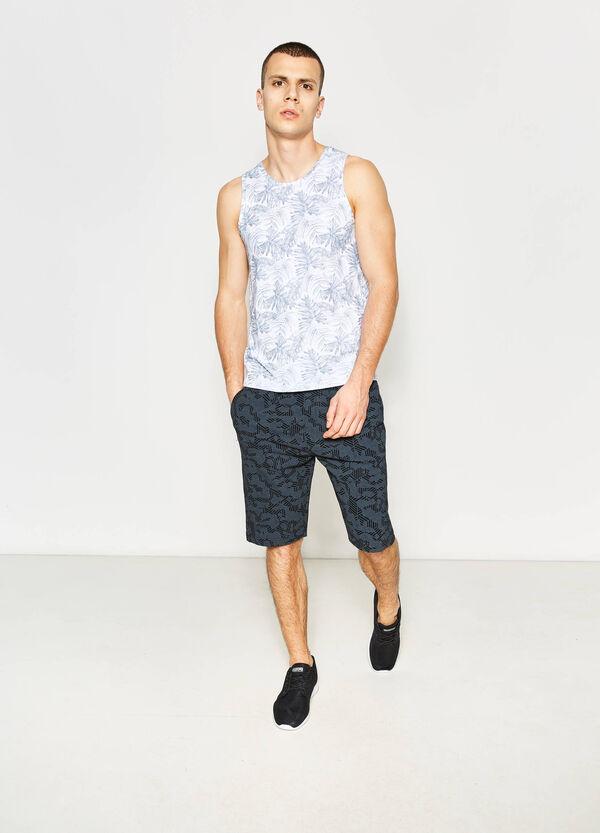 Cotton Bermuda shorts with pattern | OVS