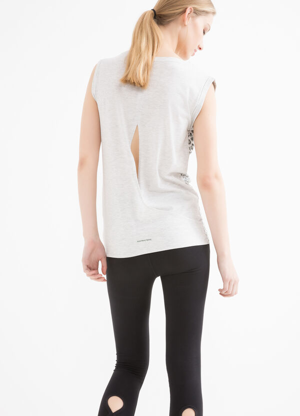 T-shirt sportiva smanicata stampa | OVS