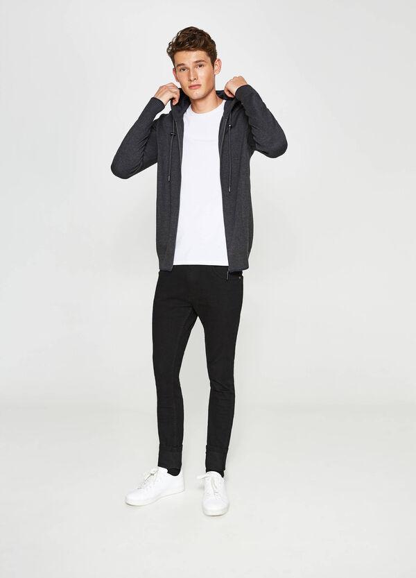 Cardigan in cotone con cappuccio | OVS