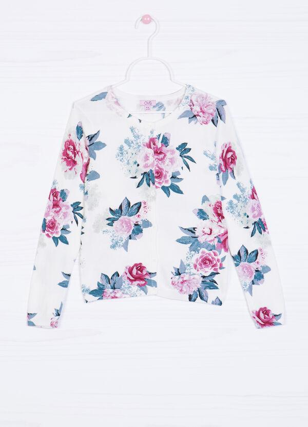 Cardigan viscosa stampa floreale | OVS