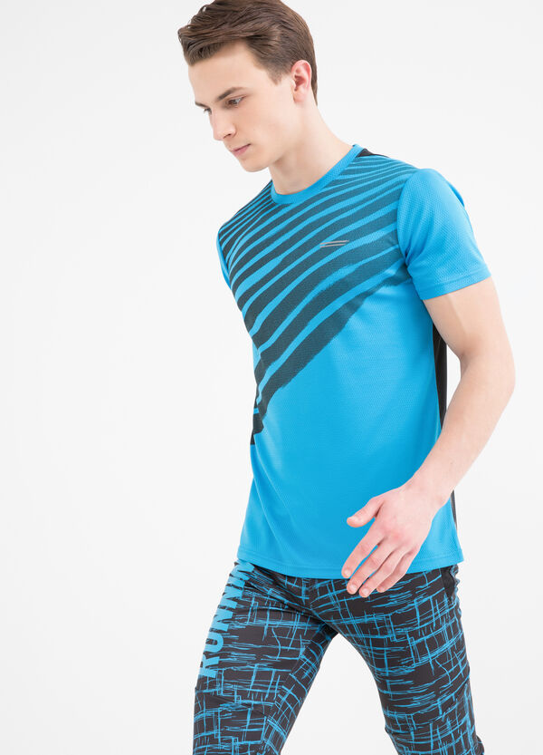 T-shirt sportiva stampa a contrasto | OVS