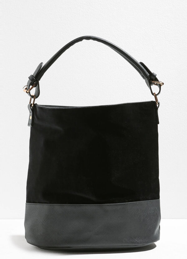 Shoulder bag with saffiano bottom | OVS