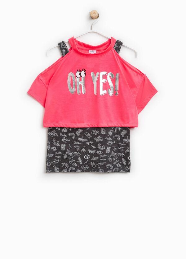 T-shirt con stampa e fantasia | OVS