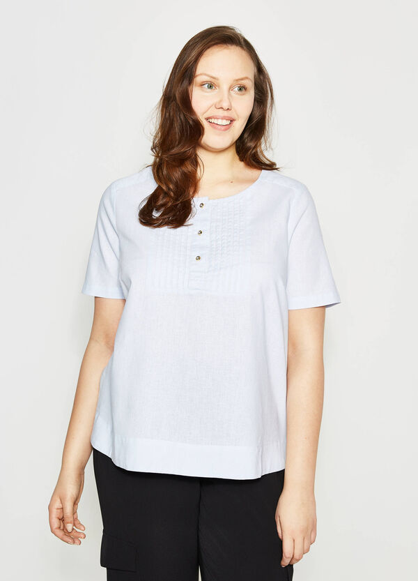 Curvy blouse with pleating | OVS