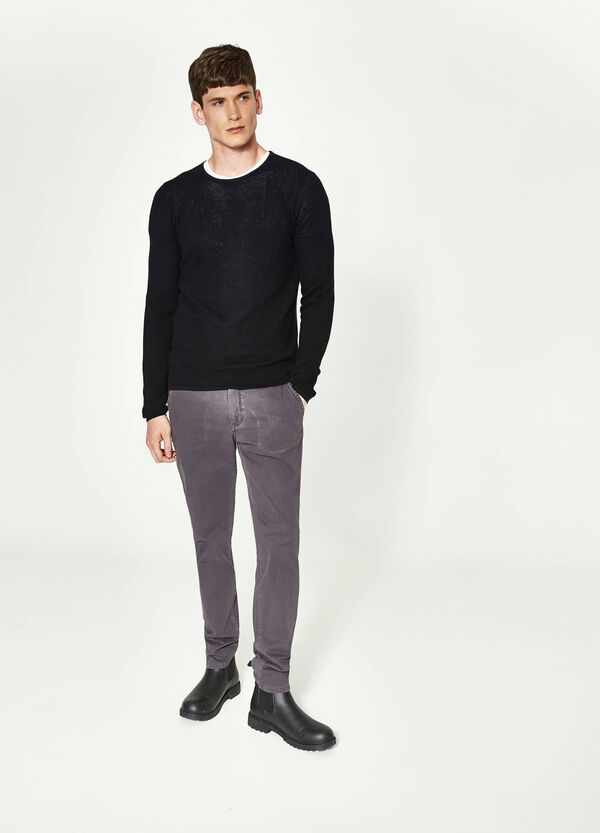 Cotton regular-fit chino trousers | OVS