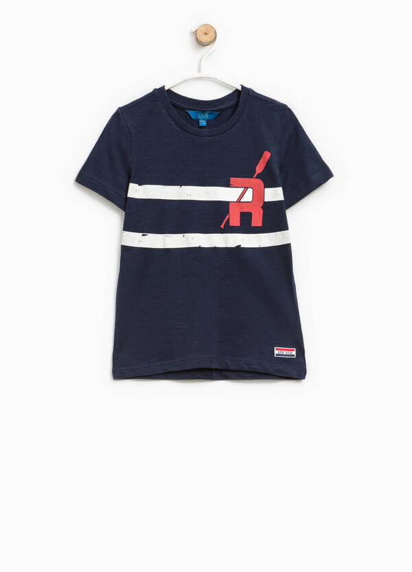 Printed T-shirt with patch   OVS