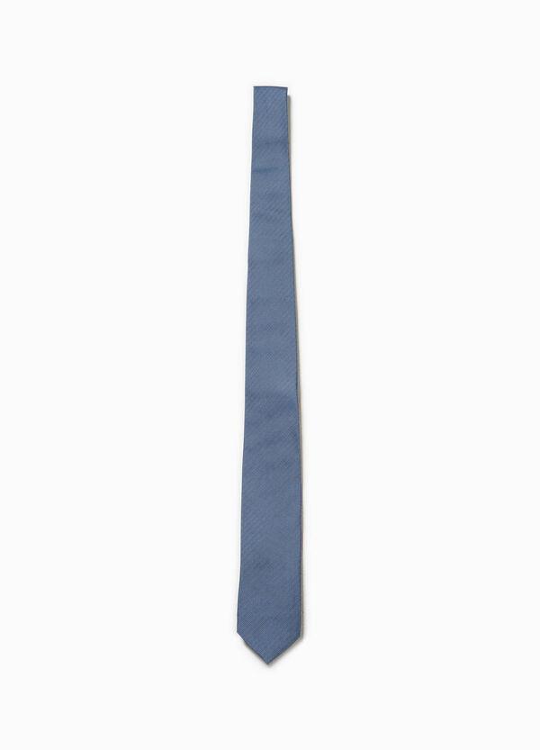 Cravatta in pura seta a micro quadri | OVS