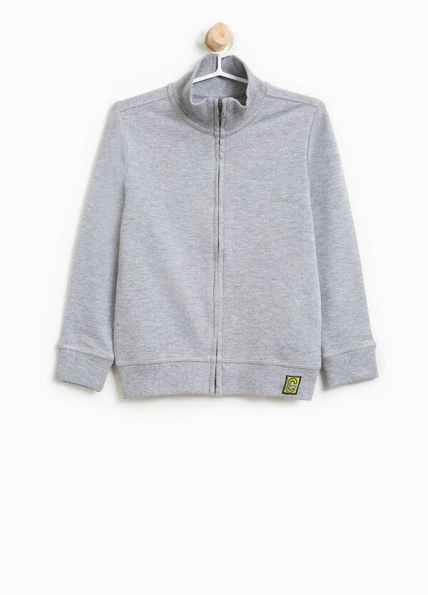 Cotton sweatshirt with zip | OVS