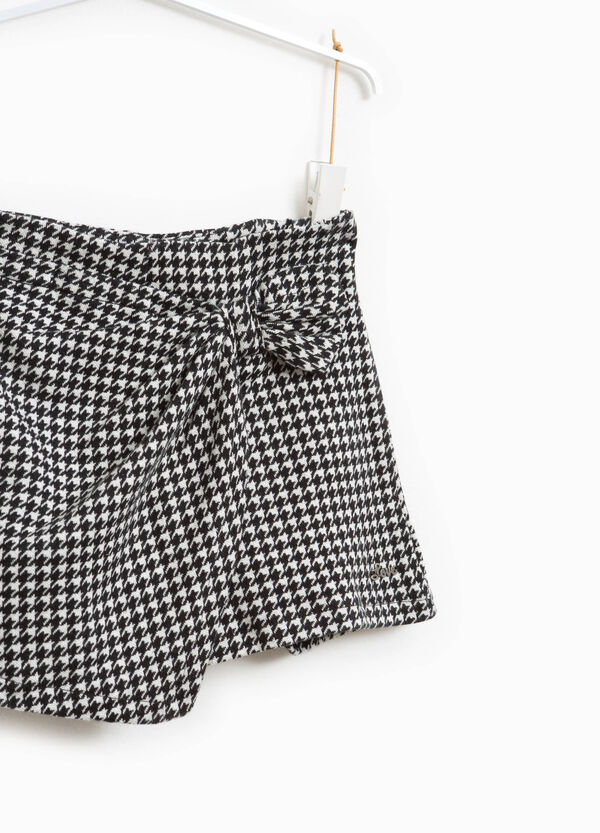 Hounds' tooth shorts with knot | OVS