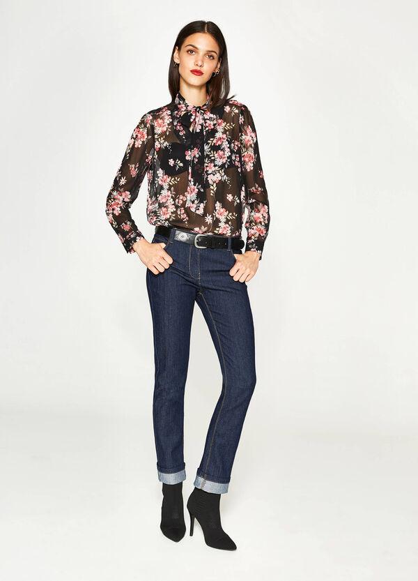 Jeans regular fit stretch con risvolto   OVS