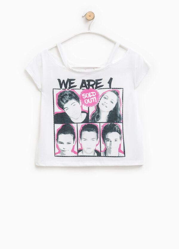 Crop T-shirt with Alex & Co. print | OVS