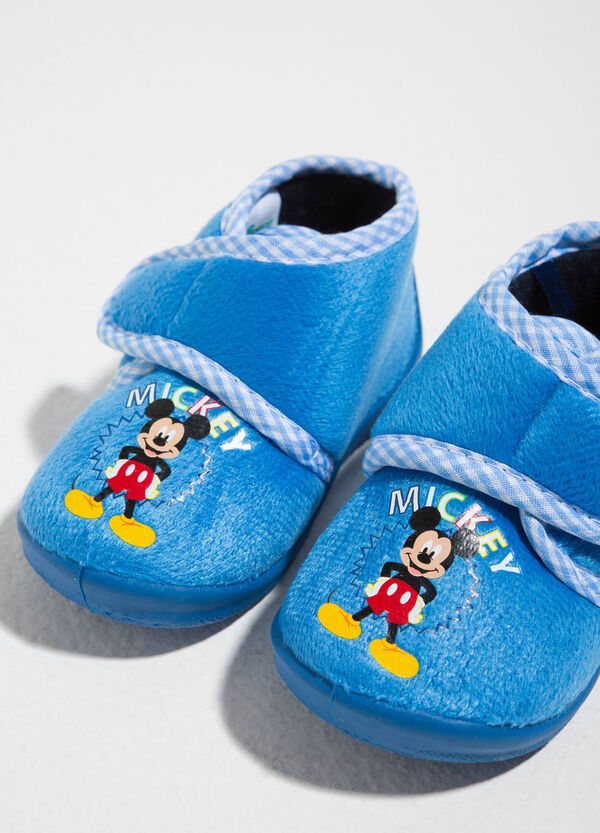 Mickey Mouse print canvas slippers | OVS