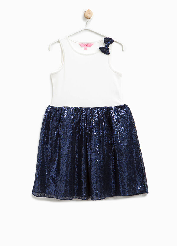 Dress with sequinned skirt | OVS