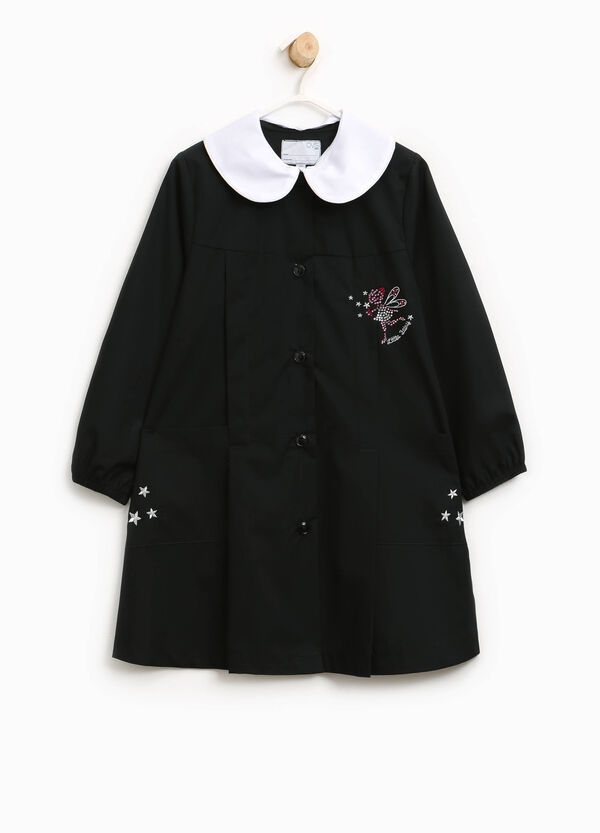 Cotton smock with diamantés and embroidery | OVS