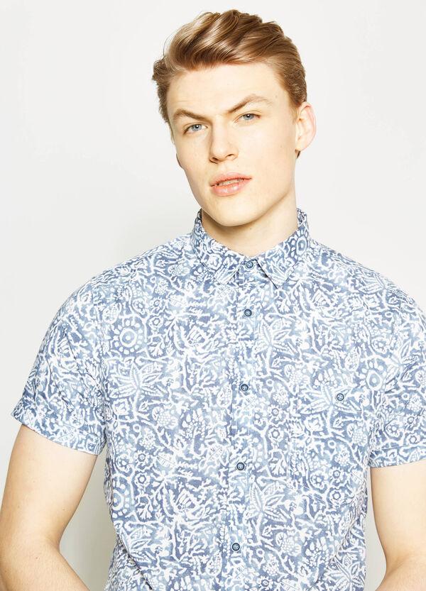 Camicia casual in popeline stampata | OVS