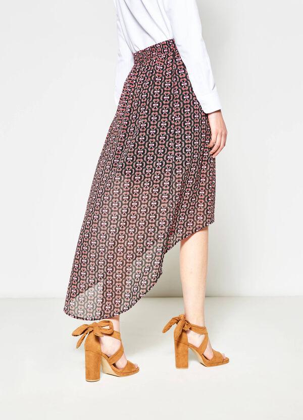 High waist semi-sheer skirt | OVS