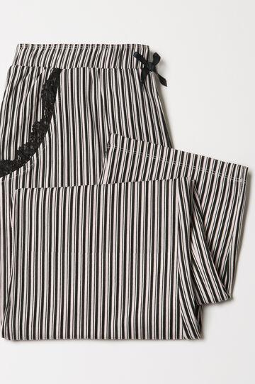 Pantaloni pigiama stretch a righe