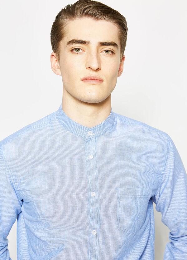 Casual striped linen shirt   OVS