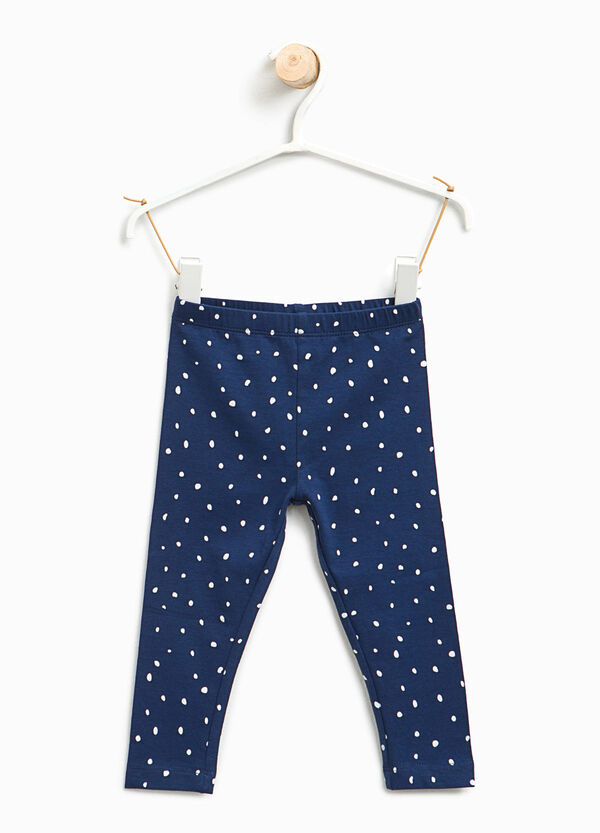 All-over polka dot print leggings | OVS