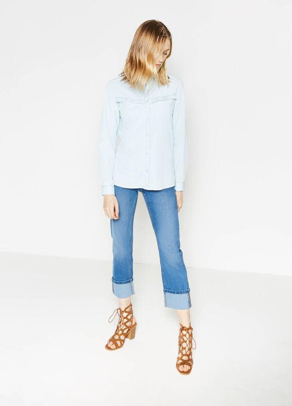 Jeans crop slim fit stretch con risvolto | OVS