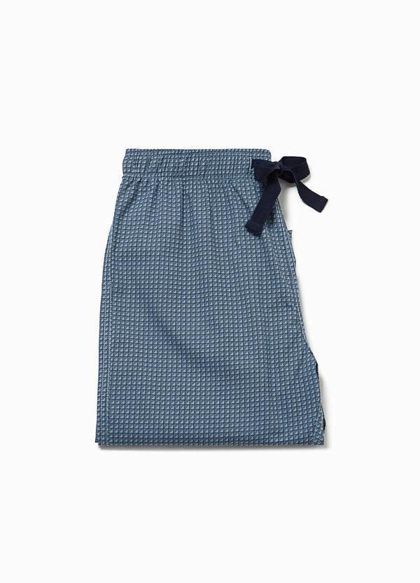 Pyjama trousers with micro check pattern | OVS