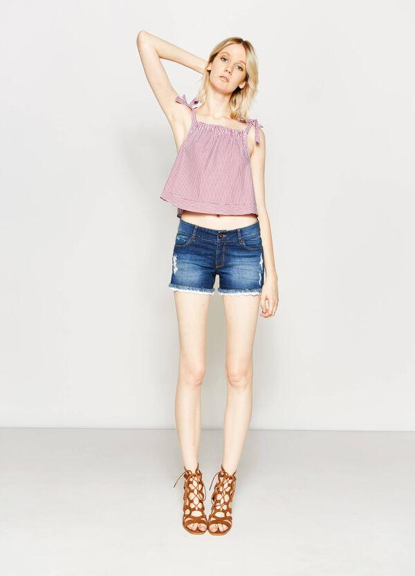Worn-effect regular-fit denim shorts | OVS
