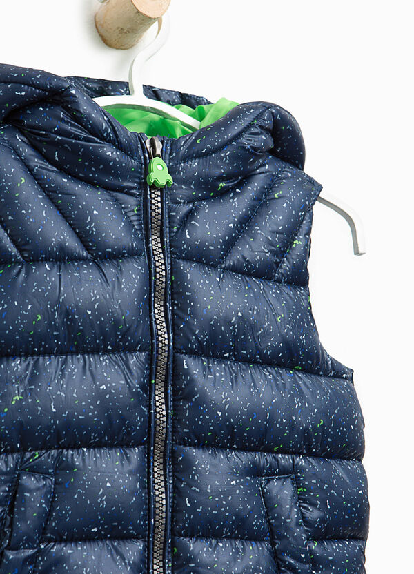 Padded gilet with splashes of colour   OVS