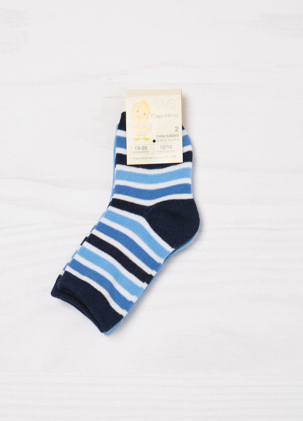 Two-pair pack stretch socks in cotton   OVS