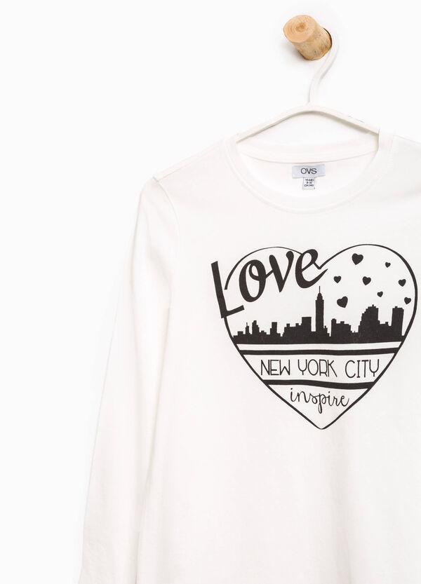 T-shirt con stampa in puro cotone | OVS