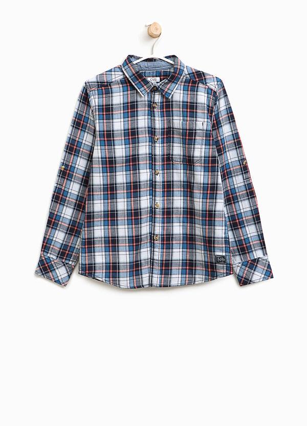 Camicia tartan in puro cotone | OVS