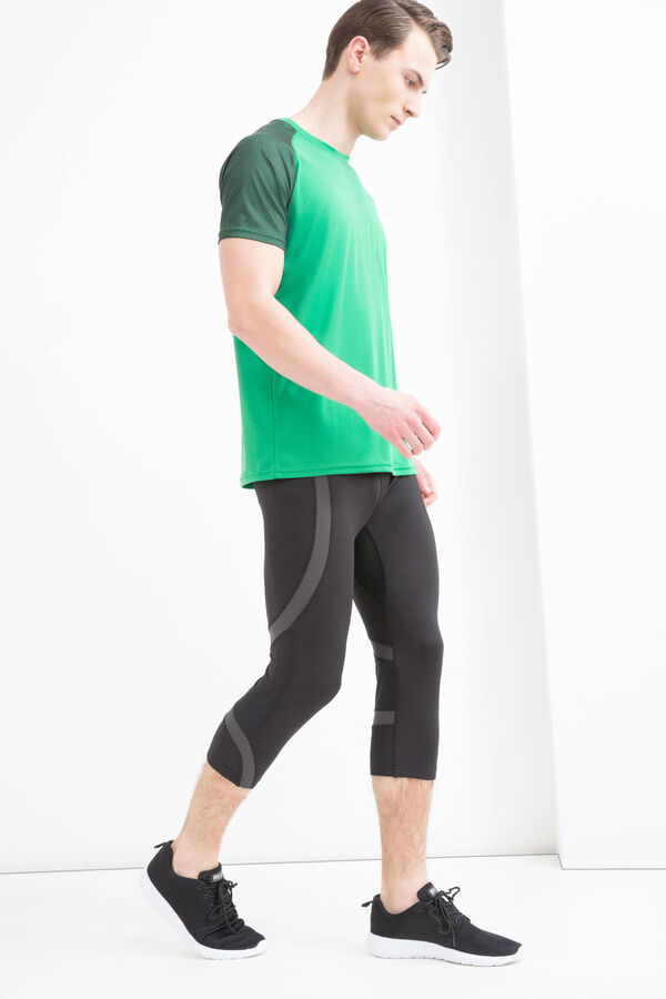 Gym T-shirt with contrasting colour sleeves | OVS