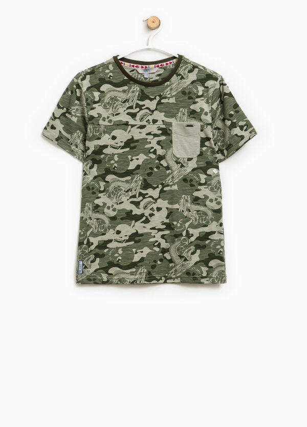 Patterned T-shirt with pocket | OVS