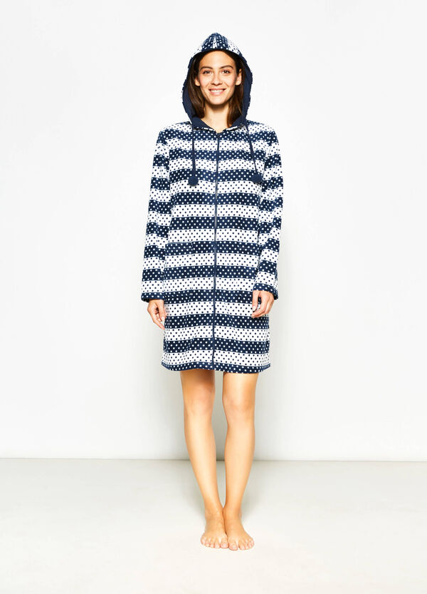 Printed fleece robe | OVS