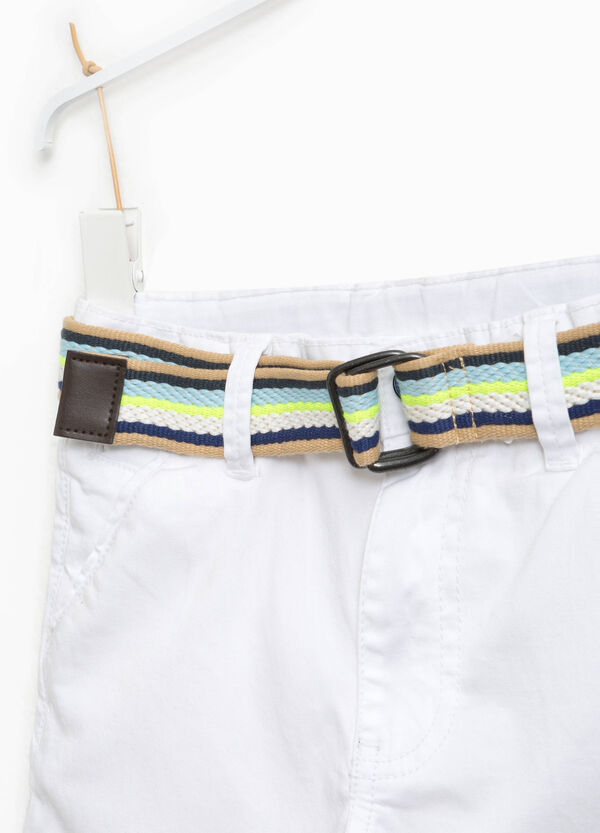 Bermuda shorts in 100% cotton with belt | OVS