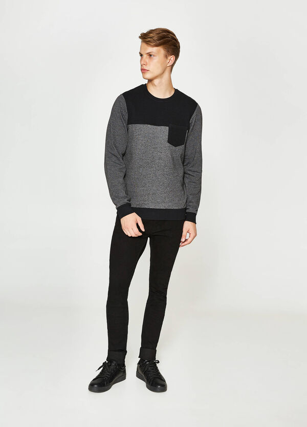 Cotton sweatshirt with quilted inserts | OVS