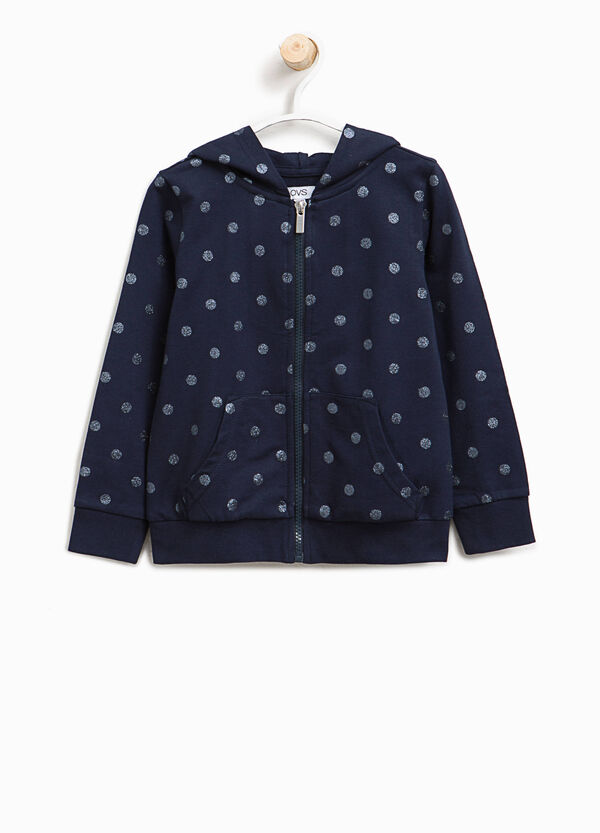 Sweatshirt with glitter polka dot pattern | OVS