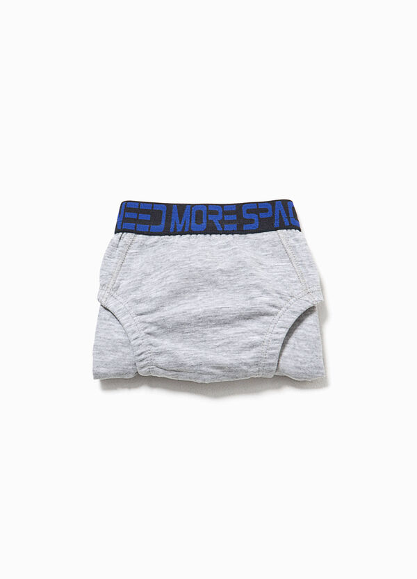 Organic cotton briefs with lettering print | OVS