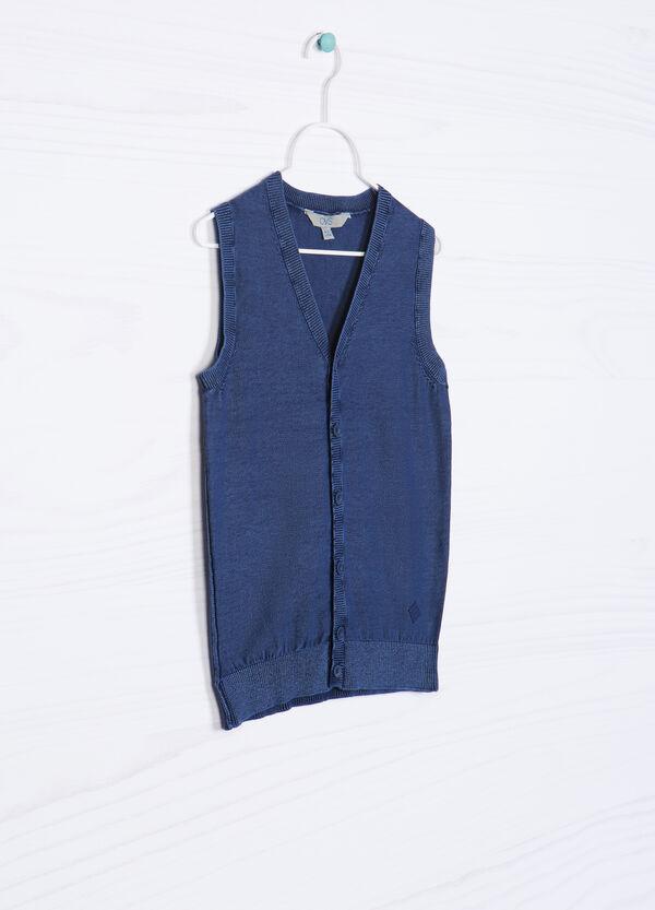 Gilet puro cotone lavorato tricot | OVS