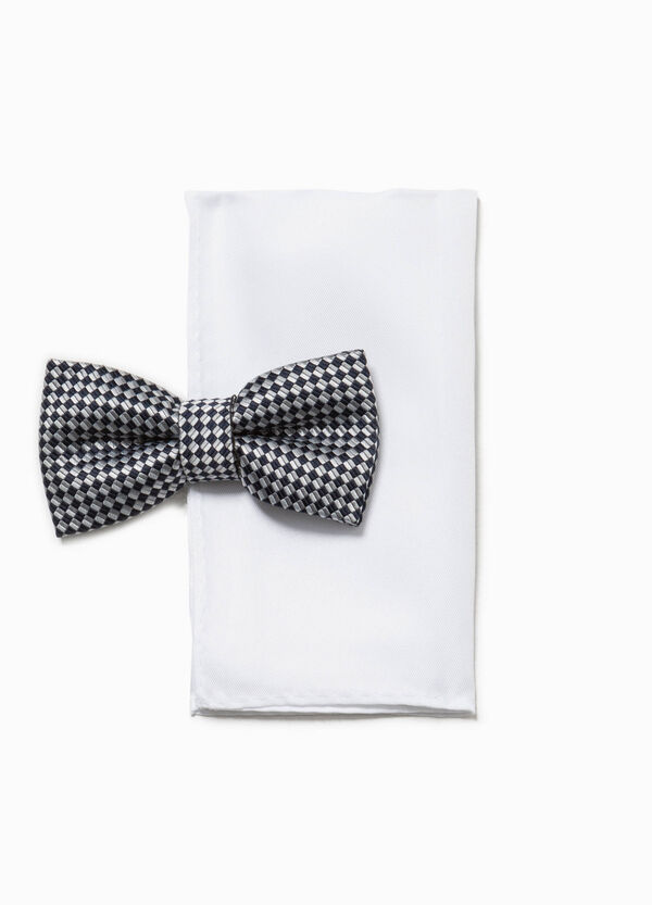 Check bow tie and pocket handkerchief set | OVS