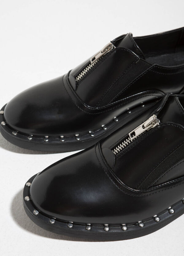 Brogues with zip and studs | OVS