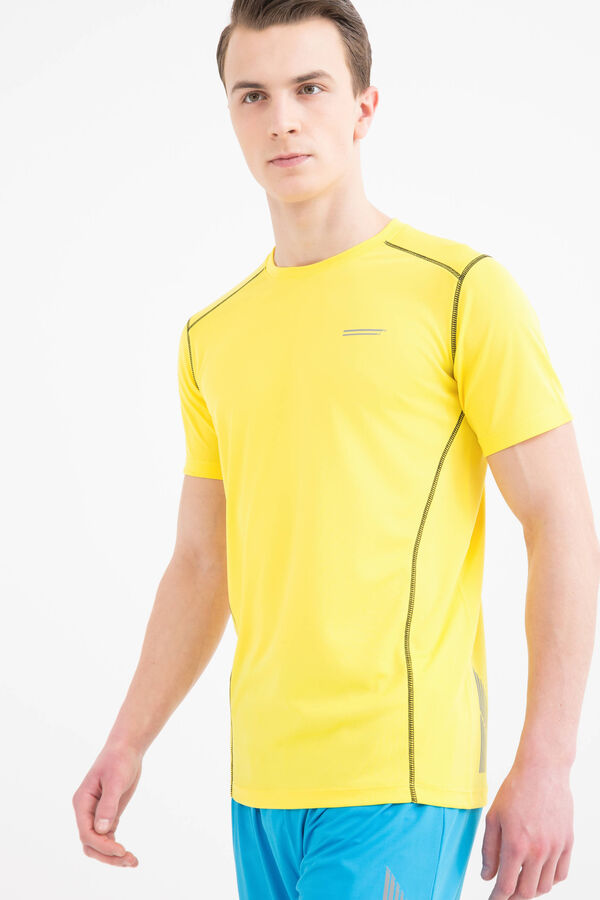 Gym T-shirt with contrasting seams | OVS