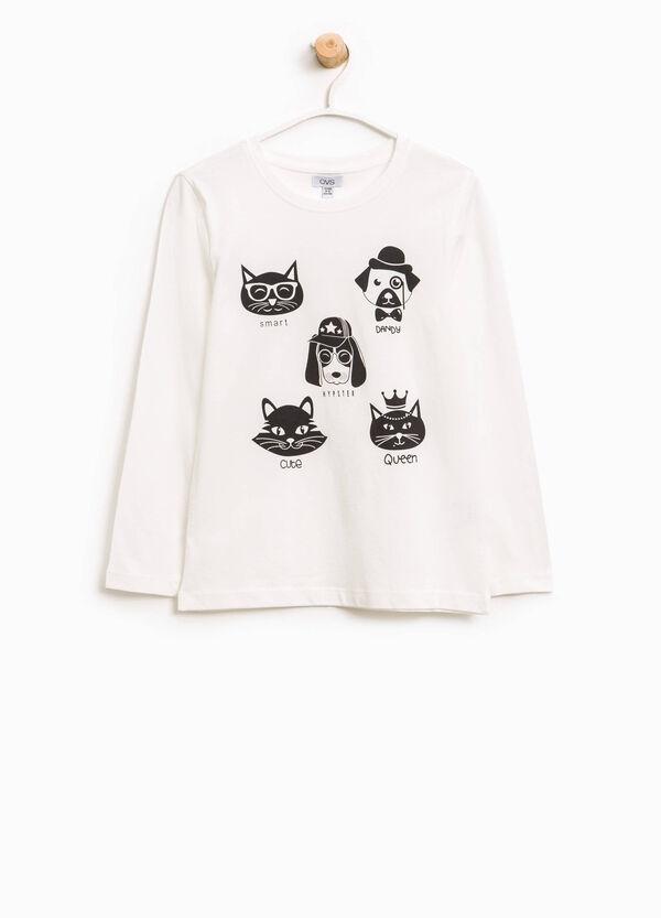 T-shirt in cotone stampa cani e gatti | OVS