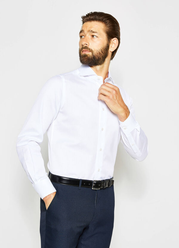 Slim-fit formal shirt with adjustable cuffs | OVS